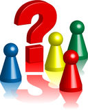 Ludo figures question mark 3 Royalty Free Stock Image