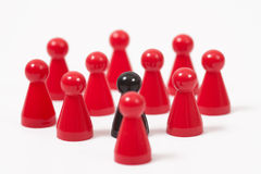 Ludo figures showing human aktions Stock Photo