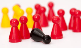 Ludo figures showing human aktions Stock Photos