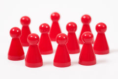 Ludo figures showing human aktions Royalty Free Stock Image