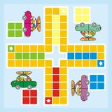 Ludo. A game for children and adults. Picture of the car and the children Royalty Free Stock Photos