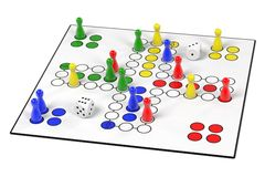 Ludo game Stock Photography