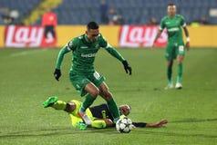 Ludogorets versus Arsenaalvoetbalwedstrijd stock afbeelding