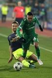 Ludogorets versus Arsenaalvoetbalwedstrijd stock afbeeldingen