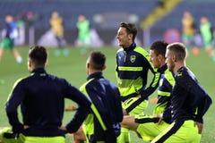 Ludogorets vs Arsenal football match Stock Photos