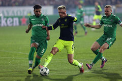 Ludogorets vs Arsenal football match Stock Photography
