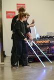 Ludosport is the world`s first academy to teach and practice Sporting Light Saber Combat - Lightning Fighting as a sporting activi. Ludosport is a dueling sport stock images