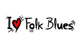 Ludowa błękit muzyki stylu miłość ilustracji