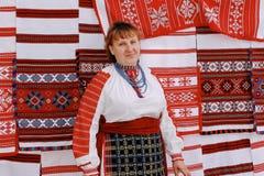 Ludowi rytuały poddają się ulepszenia w Gomel regionie republika Białoruś w 2015 Zdjęcia Royalty Free