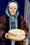 Ludowi rytuały poddają się ulepszenia w Gomel regionie republika Białoruś w 2015 Fotografia Royalty Free