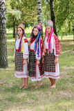 Ludowi rytuały poddają się ulepszenia w Gomel regionie republika Białoruś w 2015 Zdjęcie Royalty Free