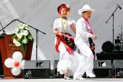 ludowi tanów meksykanie wykonują Fotografia Royalty Free