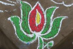 Ludowy obraz w Orissa Zdjęcie Royalty Free