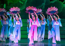 Ludowy taniec: Lotus Obrazy Stock