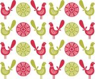 Ludowych ptaków bezszwowy wzór w wektorze. Obraz Royalty Free