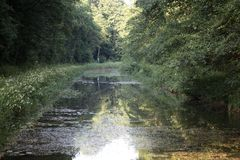 The Ludwig Canal in Bavaria Royalty Free Stock Image