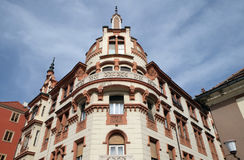 Ludwig Hof i Maribor, Slovenien Arkivbild