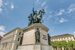 Ludwig I of Bavaria statue in Munich, Germany Royalty Free Stock Photos
