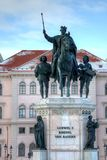 Ludwig I statue Munich Germany Stock Photos