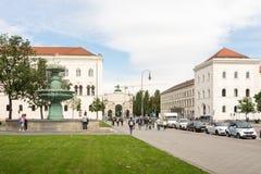Ludwig Maximilian University av Munich Arkivfoto