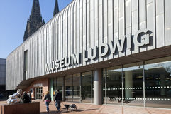 Ludwig Museum in the city of Cologne, Germany. Germany, federal state of North Rhine-Westphalia; City Cologne: Museum Ludwig: Museum of Modern Art, which forms Stock Image