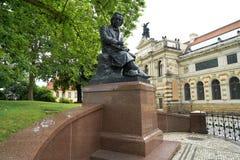 Ludwig Richter memorial denkmal Dresden Germany. Ludwig Richter memorial denkmal in Dresden of Germany Stock Images