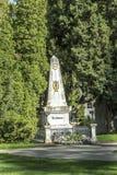 Άποψη στο κεντρικό νεκροταφείο της Βιέννης και τον τάφο του Ludwig van Bee Στοκ Φωτογραφία
