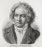 Ludwig van Beethoven. (1770 - 1827) was a German composer and pianist. The crucial figure in the transition between the Classical and Romantic eras in Western Royalty Free Stock Photos
