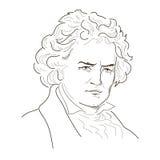 Ludwig van Beethoven stock illustratie