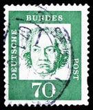 Ludwig van Beethoven 1770-1827, compositor, distinto serie dos alem?es, cerca de 1962 foto de stock