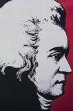 Ludwig van Beethoven. A portrait resembling Ludwig van Beethoven. Wall Graffiti in Colorado Springs Stock Image