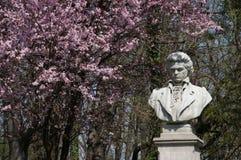 Ludwig van Beethoven. Statue of Ludwig van Beethoven in Herastrau park, Bucharest Stock Images