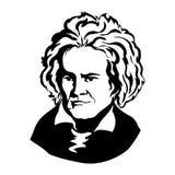 Ludwig van Beethoven Vectorportret van Mark Twain vector illustratie