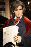 Ludwig van Beethoven (wax figure). Ludwig van Beethoven (Austrian composer, instrumentalist, and music teacher) at Madame Tussauds Museum in Vienna Stock Photo