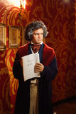 Ludwig Van Beethoven waxwork at Madame Tussauds exhibit Stock Photos