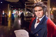 Ludwig Van Beethoven wosku rzeźba w Madame Tussauds zdjęcie stock