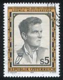 Ludwig Wittgenstein. AUSTRIA - CIRCA 1989: stamp printed by Austria, shows Ludwig Wittgenstein, circa 1989 Stock Image