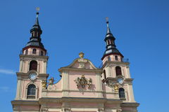 Ludwigsburg church. Ludwigsburg; Germany: Main square of the German city Royalty Free Stock Photos