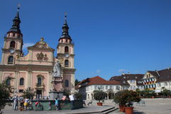 Ludwigsburg church. Ludwigsburg; Germany: Main square of the German city Royalty Free Stock Image
