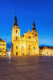 Ludwigsburg, Germany. View of the old town square in Ludwigsburg at night Stock Images