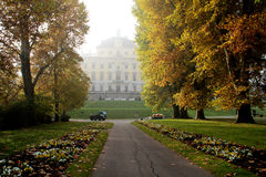 Ludwigsburg Palace. Autumn in the park at Ludwigsburg Royalty Free Stock Photo