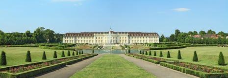 Ludwigsburg Palace panorama. Ludwigsburg palace in Ludwigsburg, Baden-Wurttemberg, Germany Royalty Free Stock Photos
