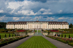 Ludwigsburg royal palace under heavy clouds. Royal palace under heavy clouds, Stuttgart-Ludwigsburg, Baden-Wurttemberg, Germany Royalty Free Stock Photo