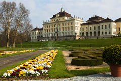 Ludwigshafen castle. And gardens from the rear Stock Photography