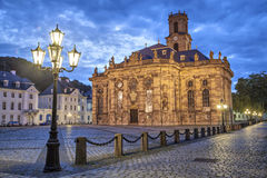 Ludwigskirche - baroku stylowy kościół w Saarbrucken Zdjęcie Stock