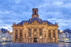 Ludwigskirche - baroque style church in Saarbrucken. Ludwigskirche -  a Protestant baroque style church in Saarbrucken, Germany (eastern facade Stock Photography