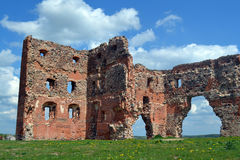 Ludza-Schloss Stockbild