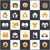 Ludzi i dzieciaków opieki loga projekta szpitalnych i stomatologicznych symbole, torebka, ptak, lew ikony inkasowe Dobroczynność, Obraz Royalty Free
