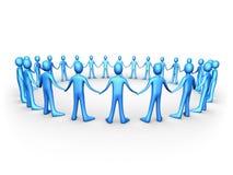 ludzi zjednoczy drużyn niebieskie Zdjęcie Stock