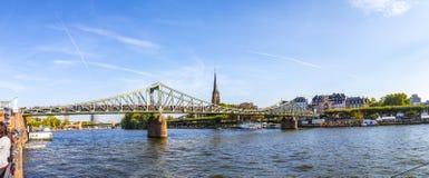 Ludzie świętują 25th rocznicę Niemiecka jedność w Frankfurt Obraz Royalty Free